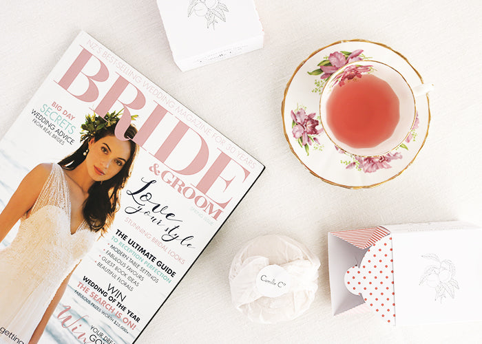 New Zealand Bride and Groom Magazine Camille Co warm amber and peach soap giveaway