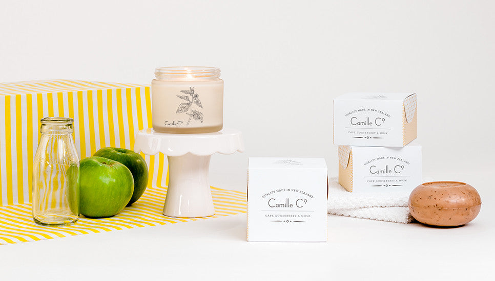 Cape Gooseberry and Musk New Zealand Made Luxury Soaps and Soy Candles by Camille Co.