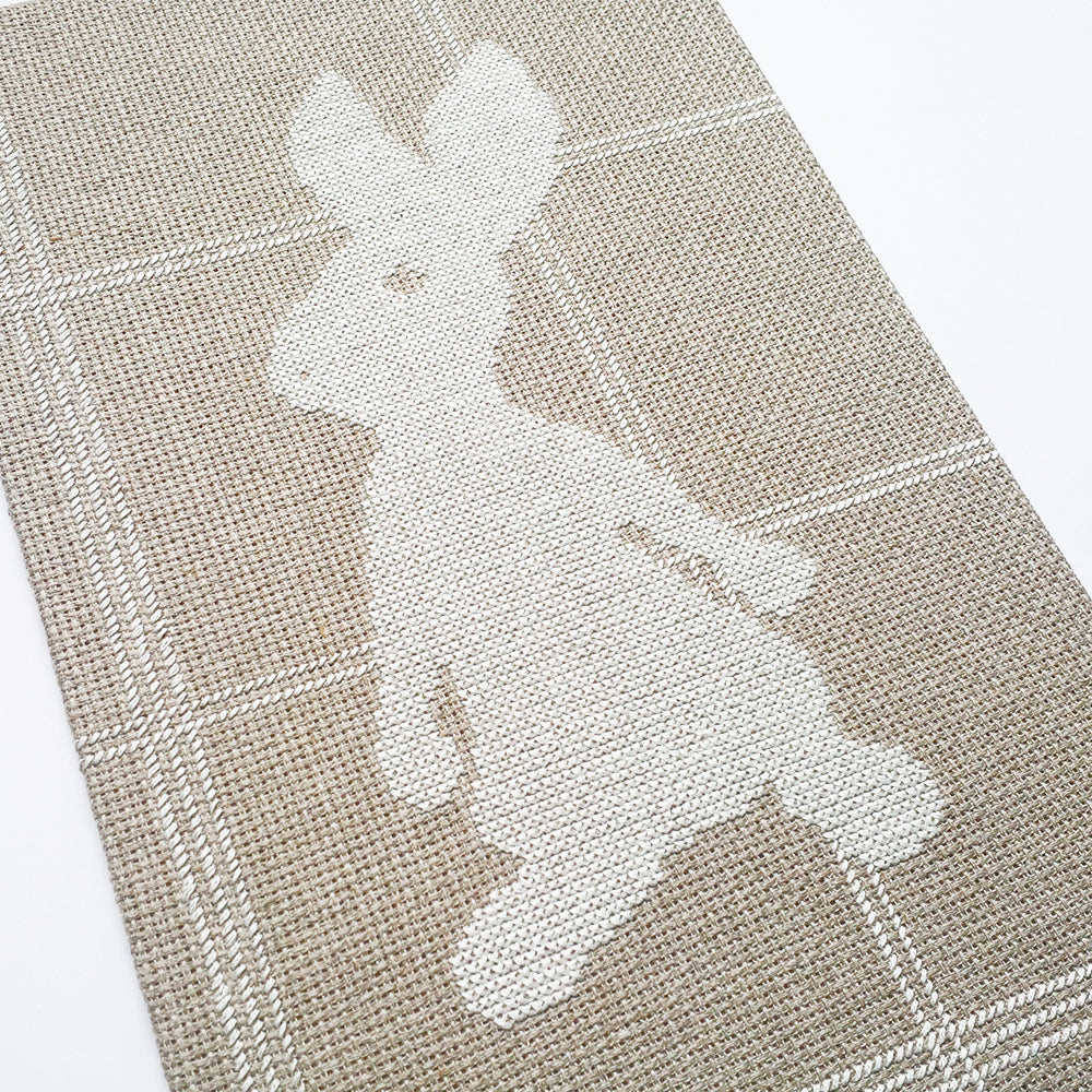 tartan hare cross stitch jennifer strange designs made in New Zealand Camille Co. Christmas guide