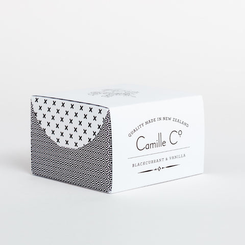 Blackcurrant and Vanilla Soap by Camille Co. Packaging design luxury brand