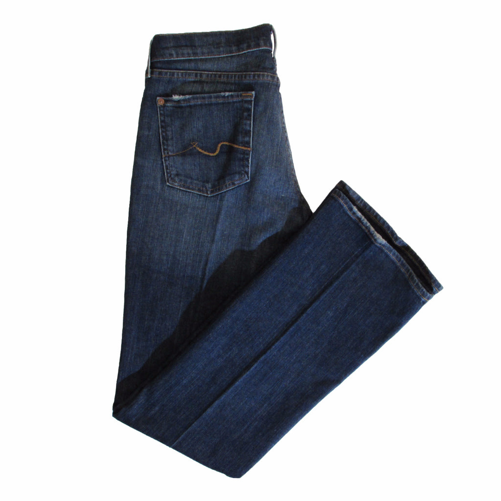 7 For All Mankind Women's Bootcut Denim Side Folded