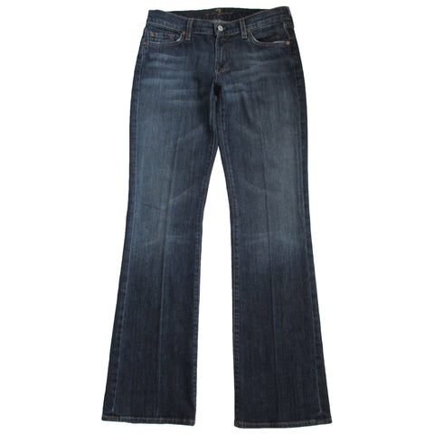 7 For All Mankind Women's Bootcut Denim Front Folded