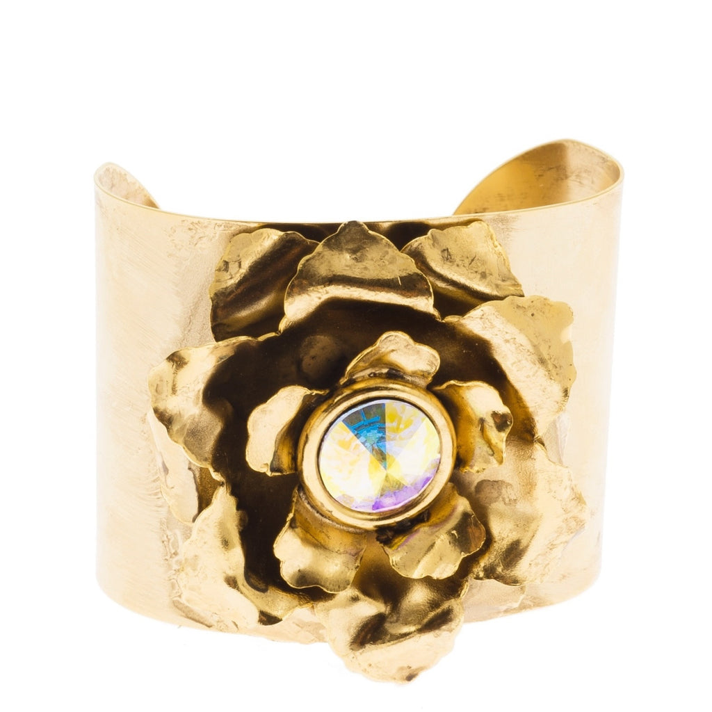 Anne Fontaine Perla Gold Cuff Front View