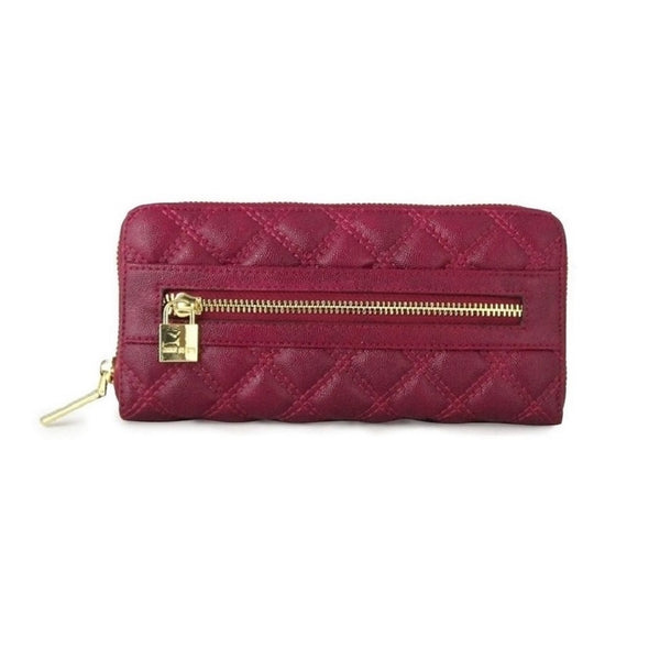 Anne Klein Shimmer Down Raisin Quilted Wallet