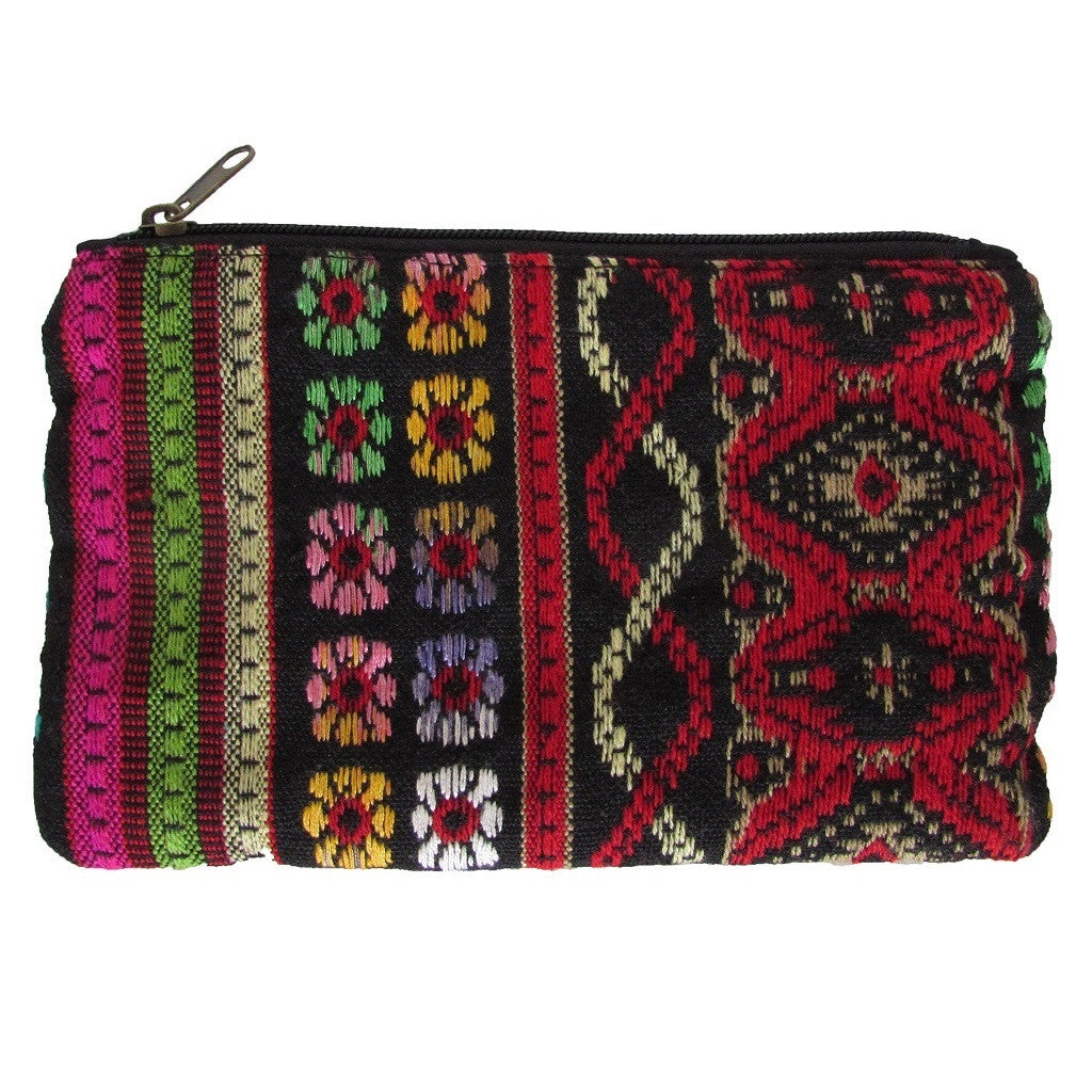 Aphorism Embroidered Carryall Pouch
