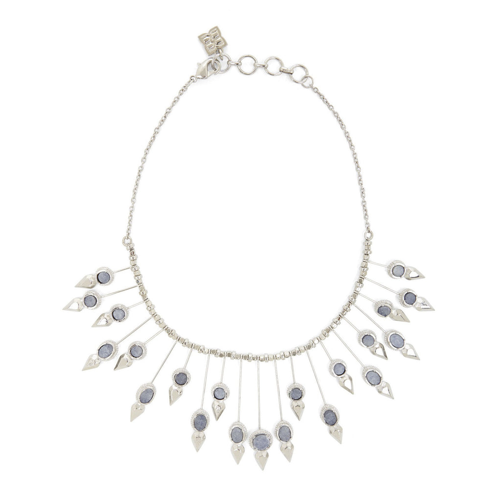 BCBGMAXAZRIA Natural Stone Sunburst Necklace