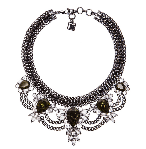 BCBG MAXAZRIA RHINESTONE COLLAR NECKLACE