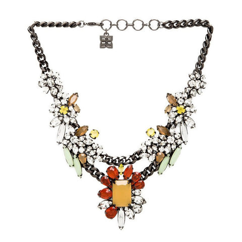 BCBGMAXAZRIA Multicolor Floral Stone Necklace