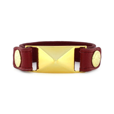 BCBGeneration Red Faux Leather Snap Bracelet