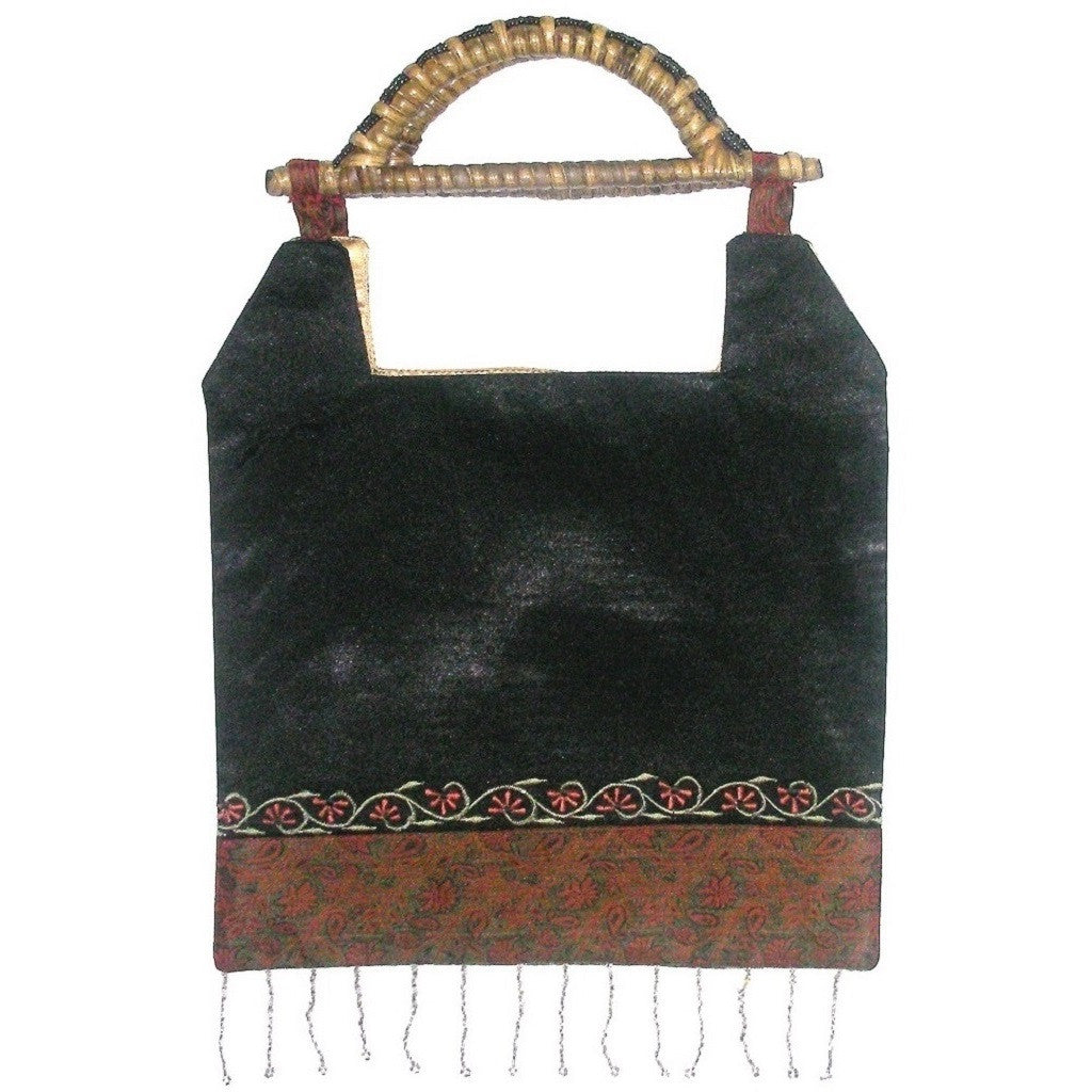 Panel Bead Tassel Bag