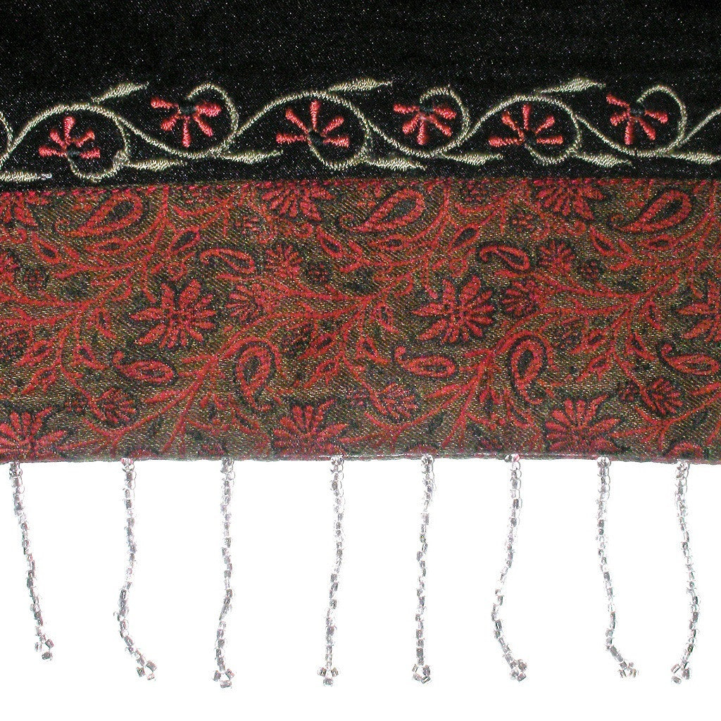 Panel Bead Tassel Closeup