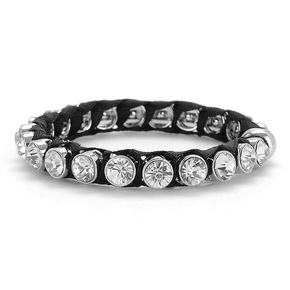 Betsey Johnson Crystal Bangle Bracelet