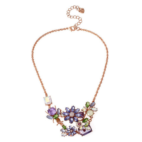 Betsey Johnson Garden Floral Necklace