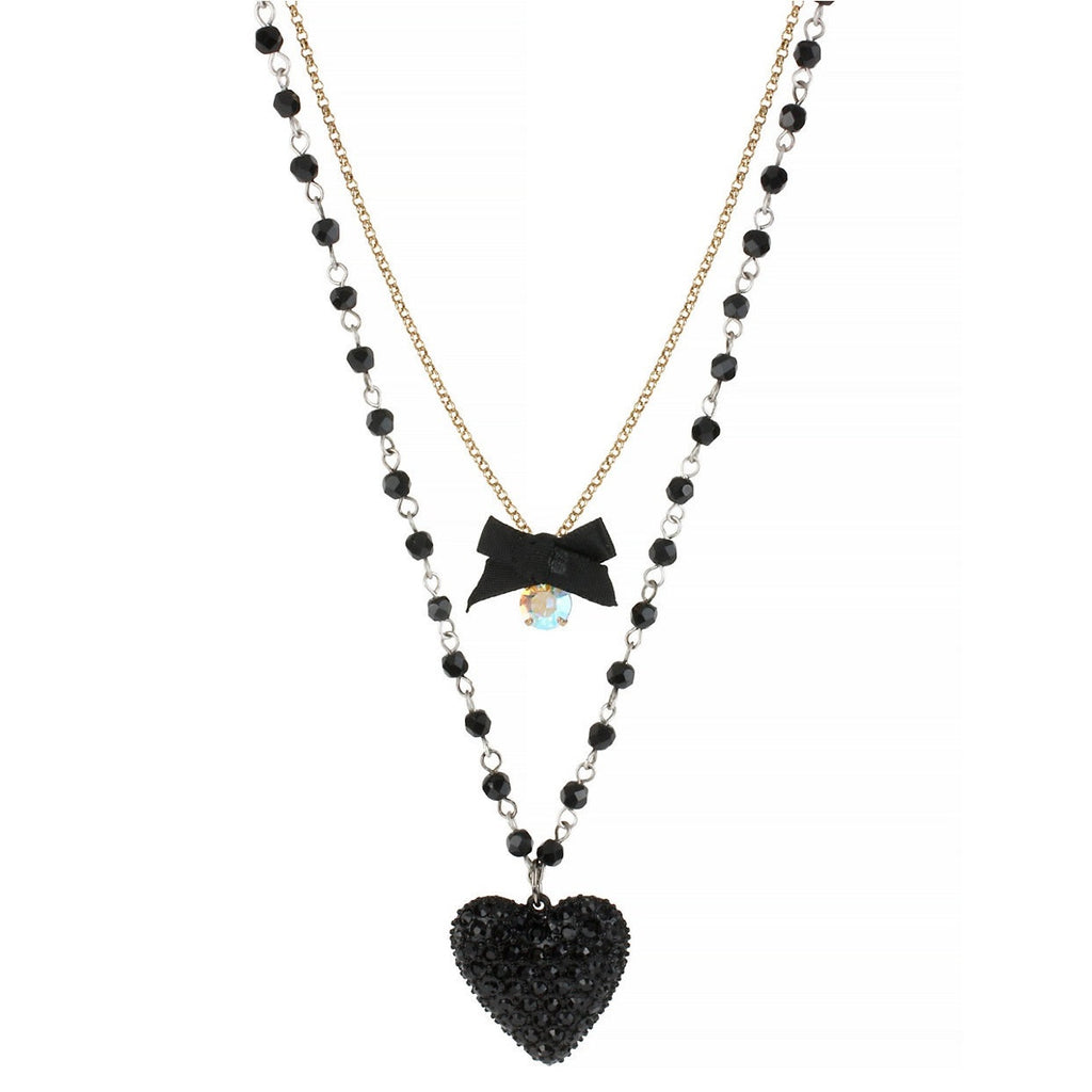 Betsey Johnson Heart Layered Necklace