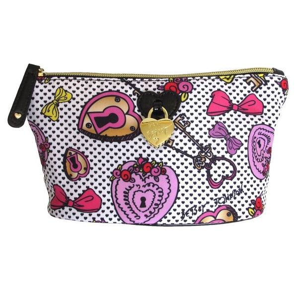 Betsey Johnson Heart Lock Cosmetic Pouch
