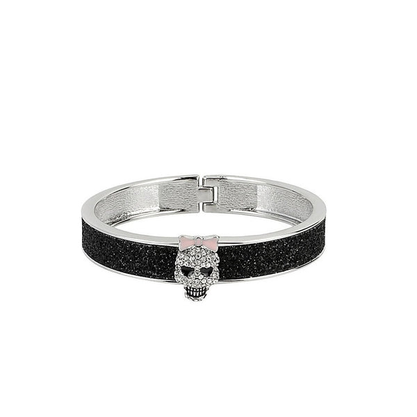Betsey Johnson Princess Skully Glitter Bangle