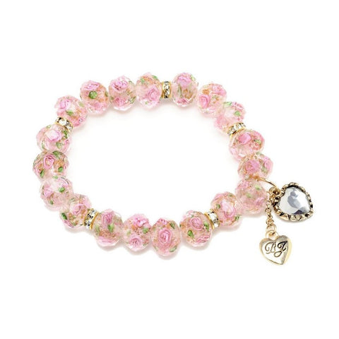 BETSEY JOHNSON Flower Bead Stretch Bracelet
