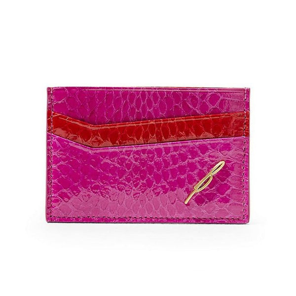 B Brian Atwood Leather Card Case