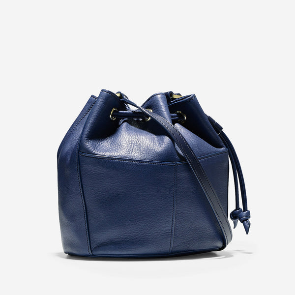 COLE HAAN Blazer Blue Felicity Mini Drawstring