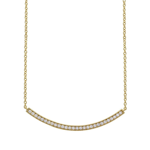 CRISLU Gold Vermeil Bar Necklace Layer this slim sparkly piece with longer necklaces for elegant chic.