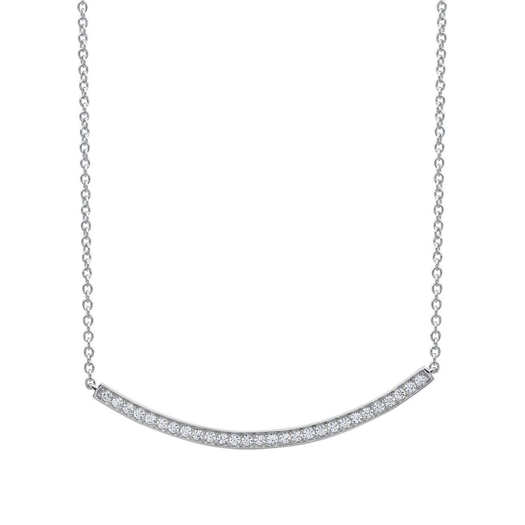 CRISLU Sterling Silver Bar Necklace Layer this slim sparkly piece with longer necklaces for understated glam.