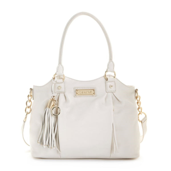 Calvin Klein White Sonoma Leather Shopper