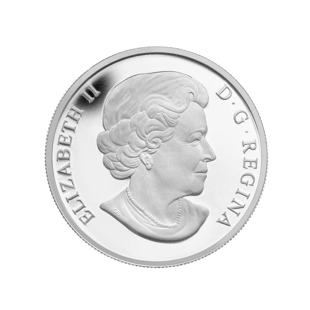 Canadian Hockey Fine Silver Coin - Back