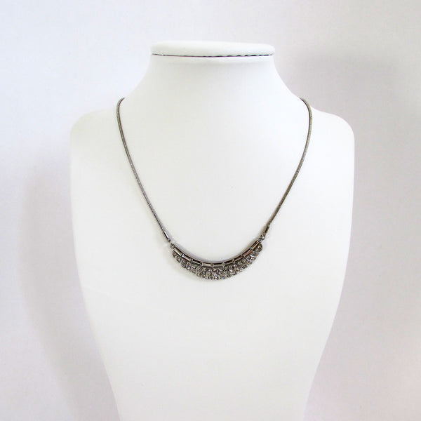 Carolee Crystal Cluster Frontal Necklace