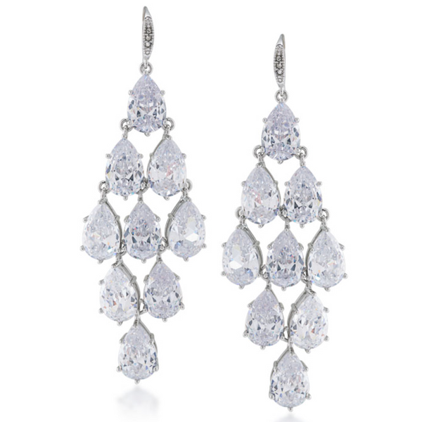 Carolee Crystal Chandelier Earrings