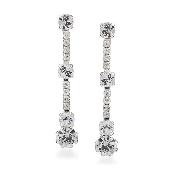 Carolee Linear Drop Earrings Add linear sparkle and sophisticated glam with these stunning drop earrings