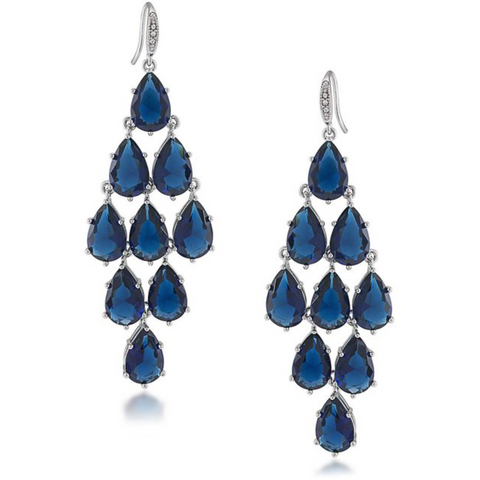 Carolee Blue Kite Chandelier Earrings