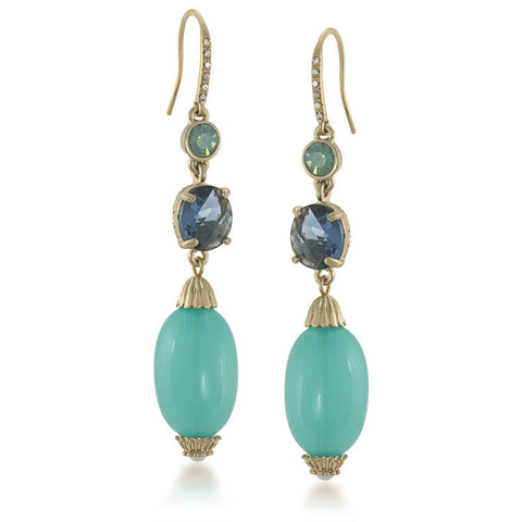 Carolee Tranquil Blue Linear Pierced Earrings