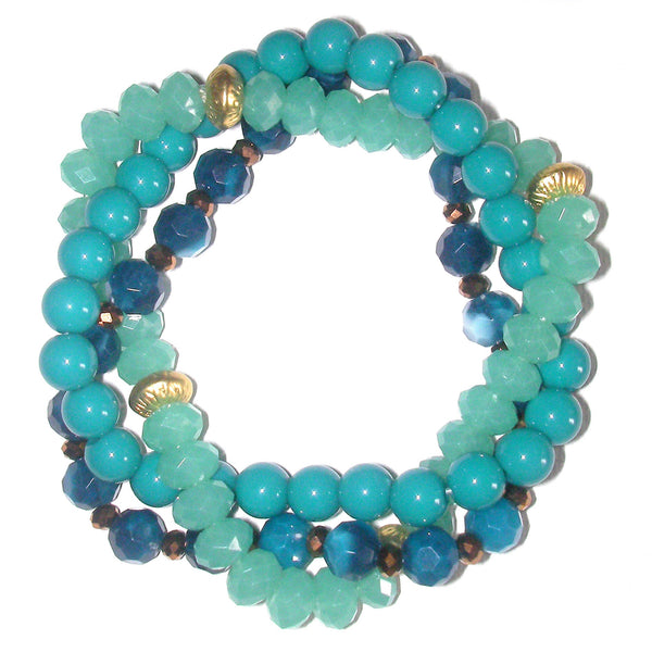 Charter Club Multiple Row Twisted Bead Bracelet - Tranquil Blue