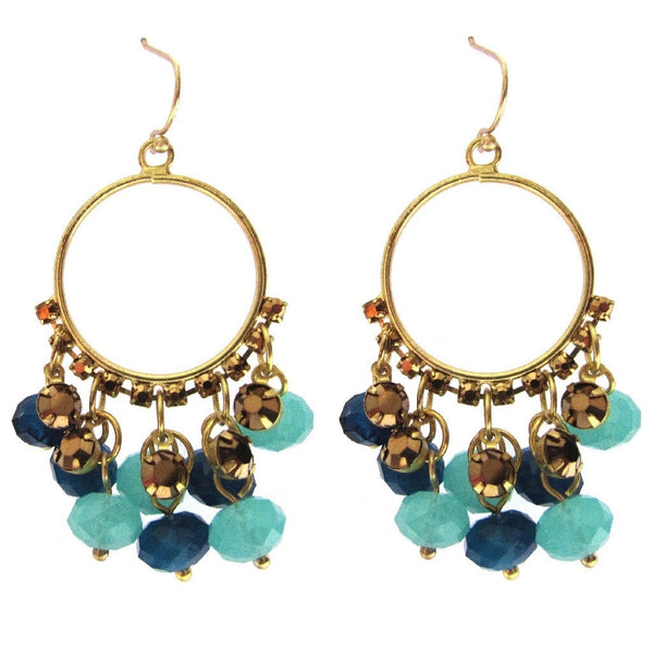 Charter Club Turquoise Bead Hoop Earrings