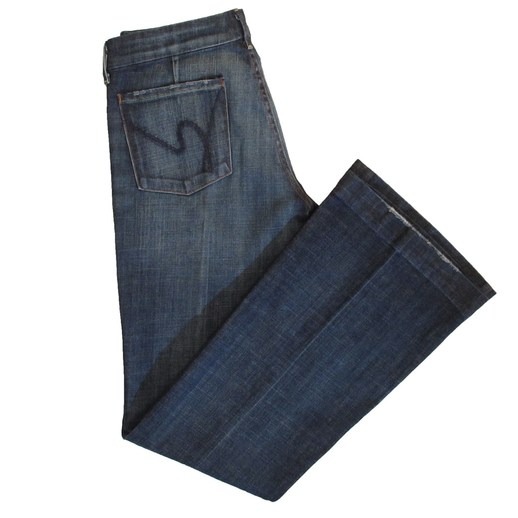 Citizens of Humanity Faye Stretch Wide Leg Denim Side Folded View