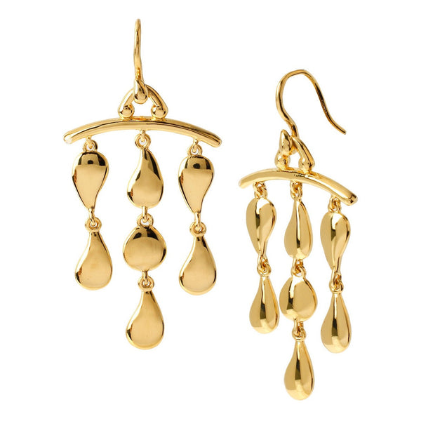 DIANE VON FURSTENBERG Gold Plated Bar Drop Earrings