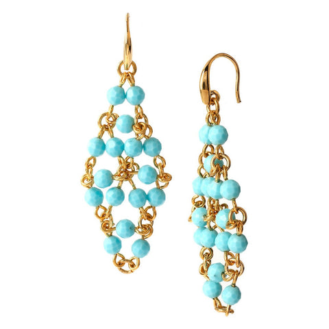 DIANE VON FURSTENBERG Turquoise Bead Earrings