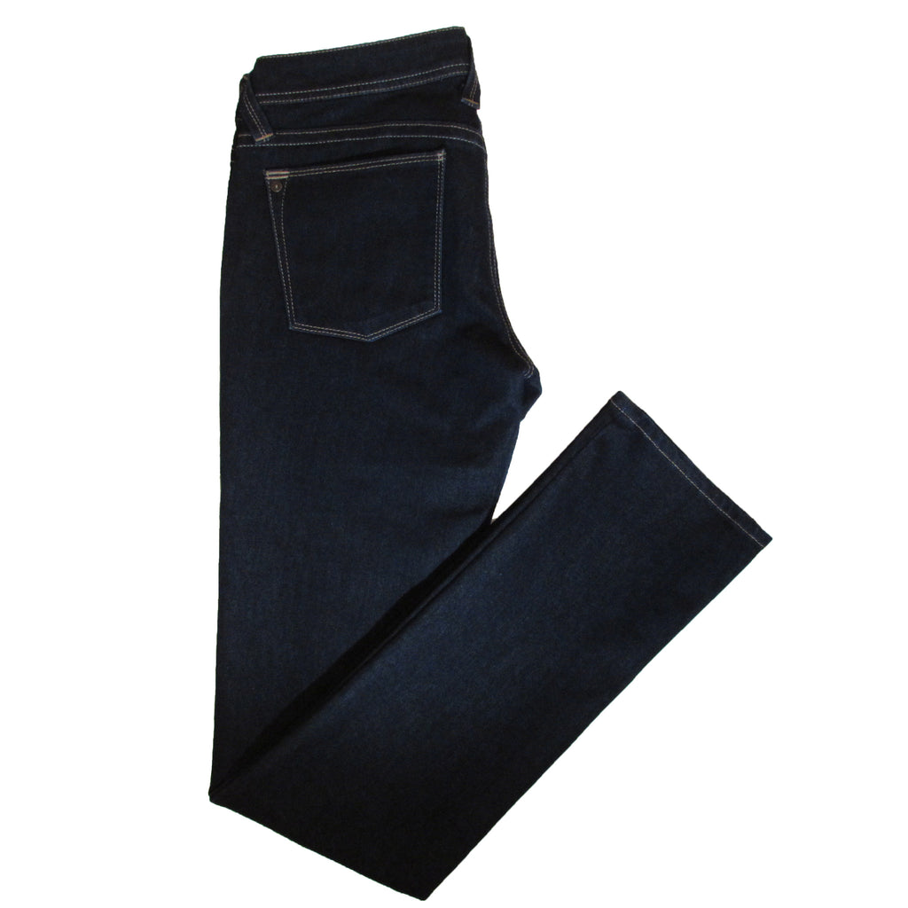 DL 1961 Premium Denim Kate Straight Jeans Side Folded View