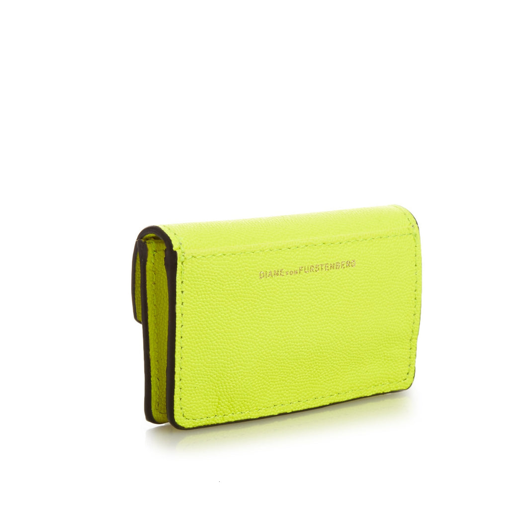 DIANE VON FURSTENBERG Turnlock Leather Card Case - Back