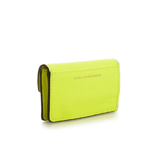 DIANE VON FURSTENBERG Turnlock Leather Card Case - Front