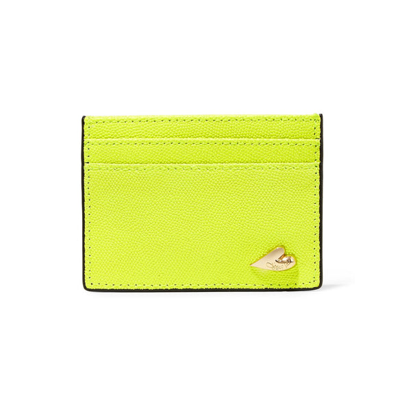 DIANE VON FURSTENBERG Tuxedo Leather Card Case - Front