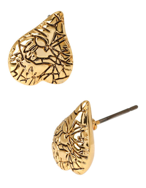 DIANE VON FURSTENBERG Heather Heart Stud Earrings