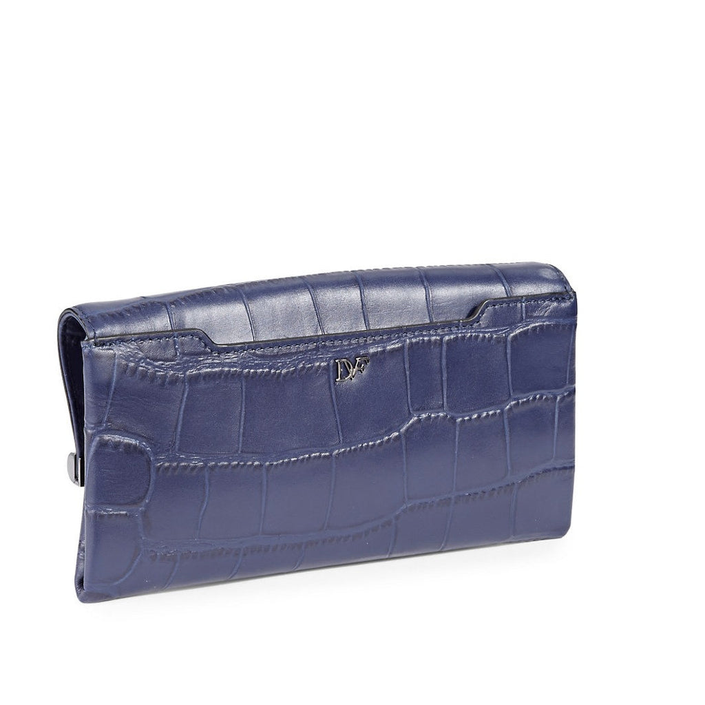 DIANE VON FURSTENBERG Embossed Leather Envelope Clutch-reverse