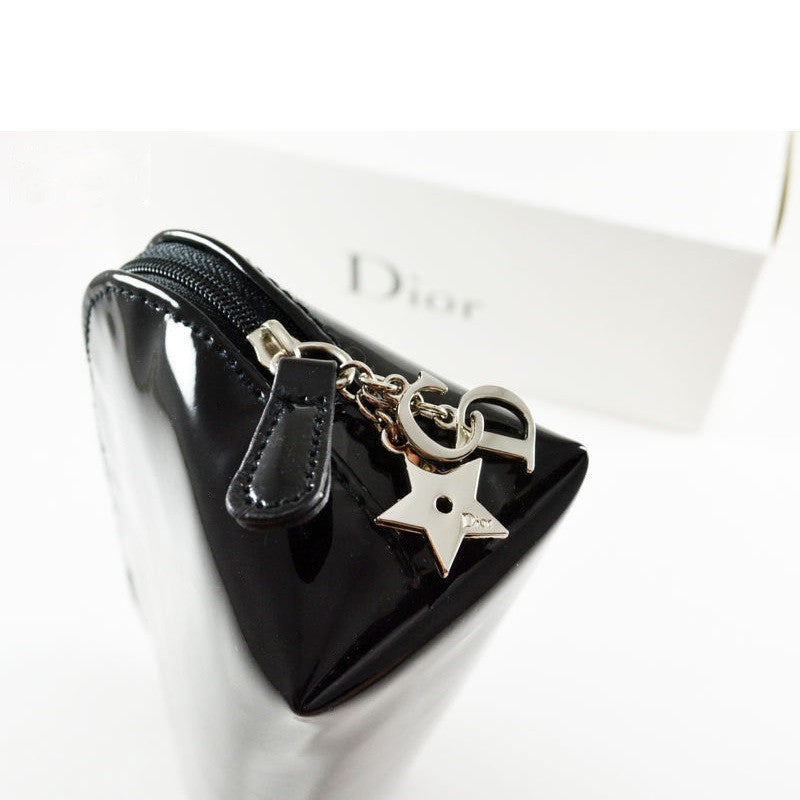 Dior Carryall Pouch with CD Logo Charm Closeup