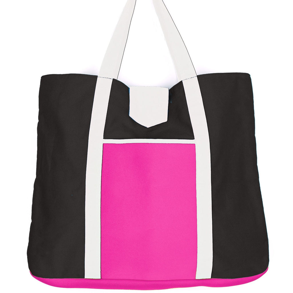 Echo Color Block Beach Tote - Pink