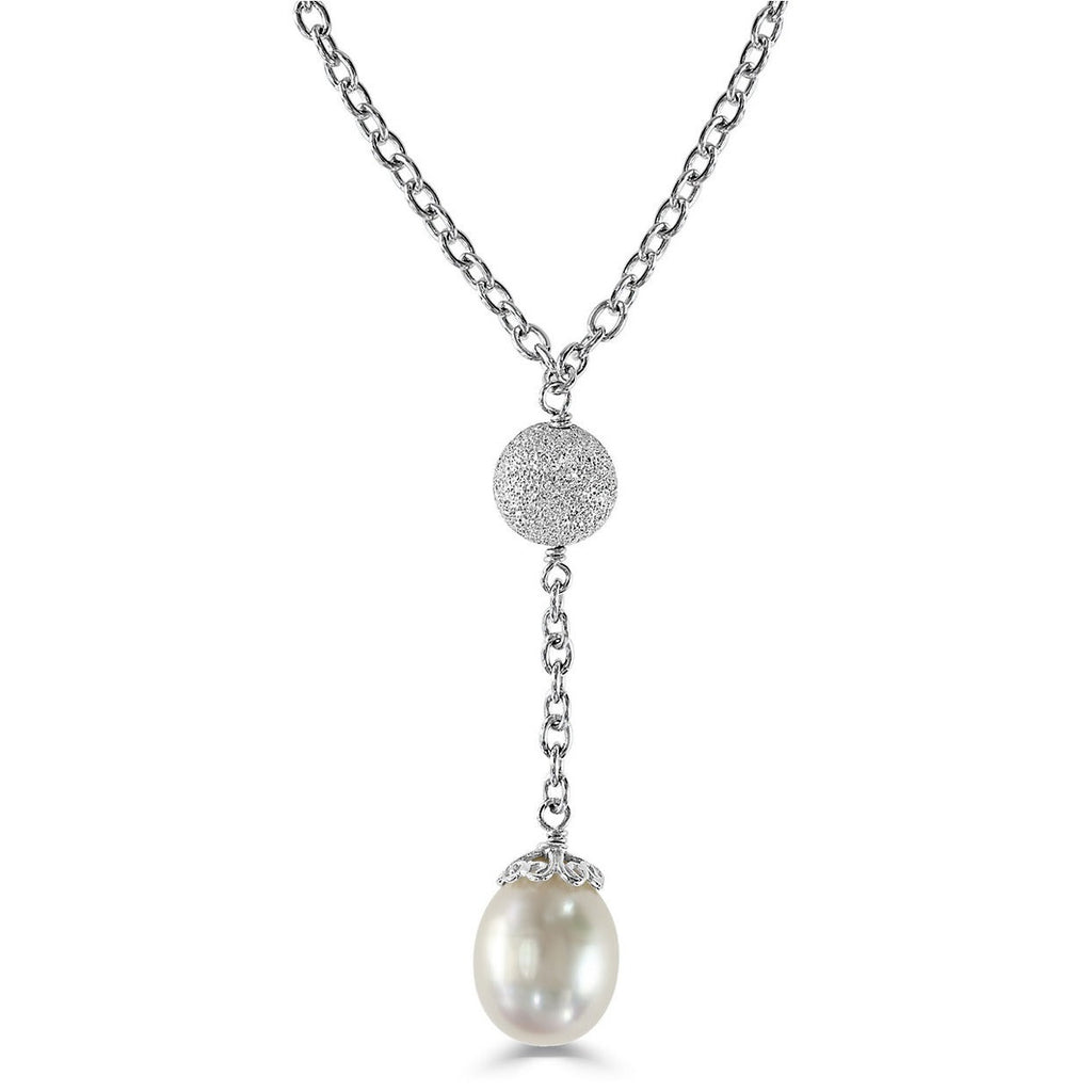 Effy Pearl Drop Sterling Silver Necklace