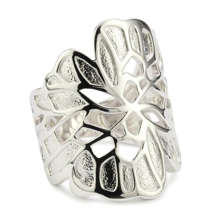 Elle Sterling Silver Butterfly Ring