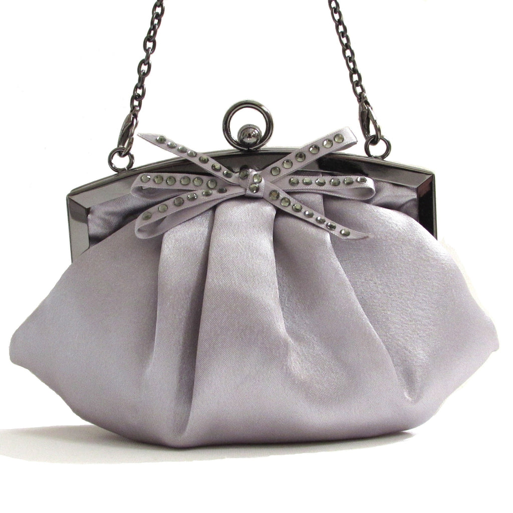 Embellished Satin Frame Evening Bag Perfect size accessory for prom or evening out.