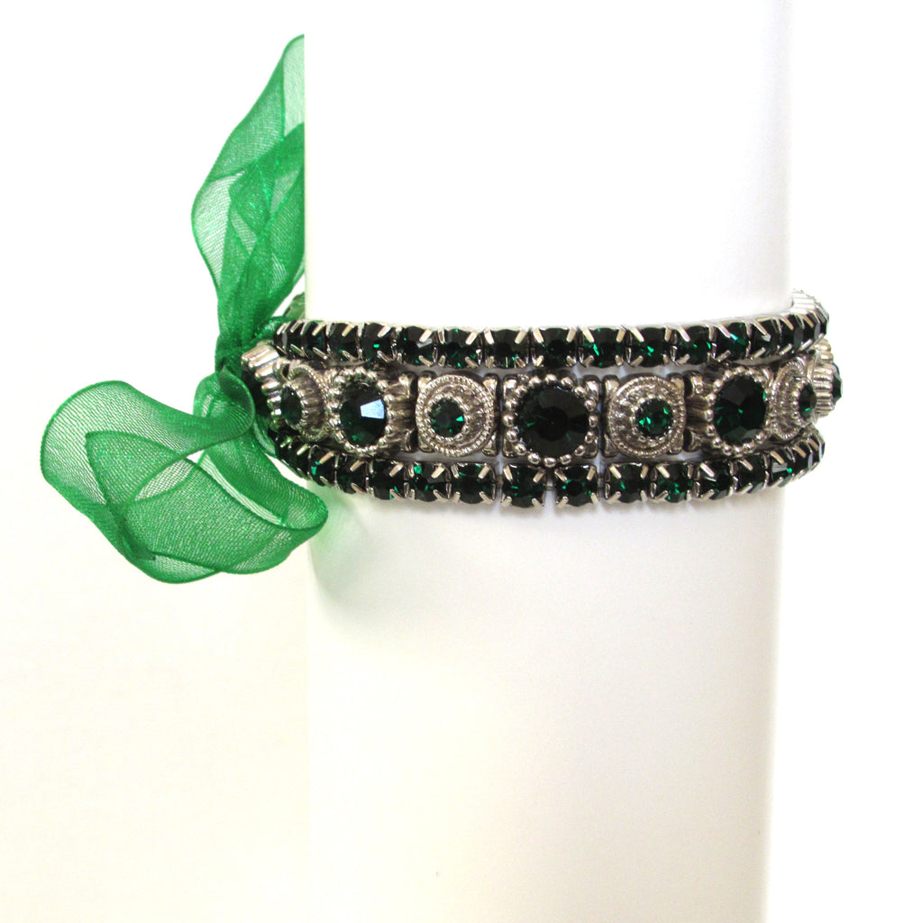 Emerald Green Bracelet Trio