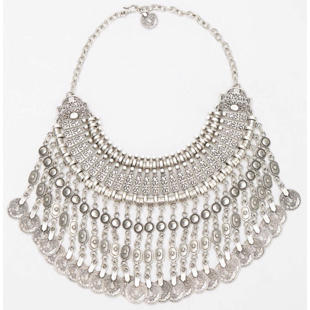 Free People Aantalya Coin Necklace Closeup
